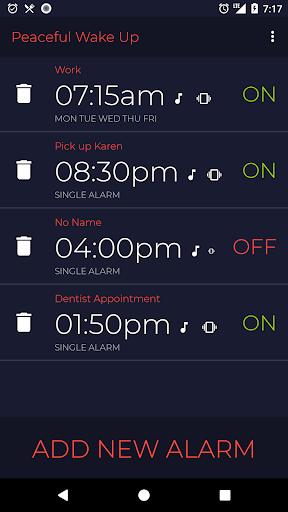 Peaceful Wake-Up - Gentle Alarm Clock - Calm Soft screenshots 1