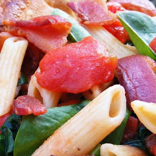 Penne Pasta With Bacon And Spinach Recipes