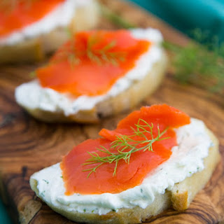 Smoked Salmon Tea Sandwiches (Canapés).