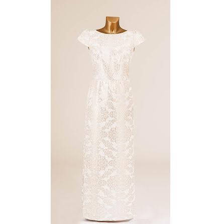 Cute Metallic Long Gown Beige-Rosé - Pernilla Wahlgren