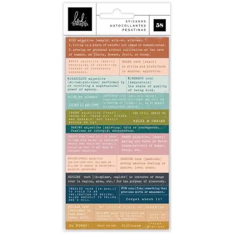 Heidi Swapp Definition Stickers 58/Pkg - Care Free