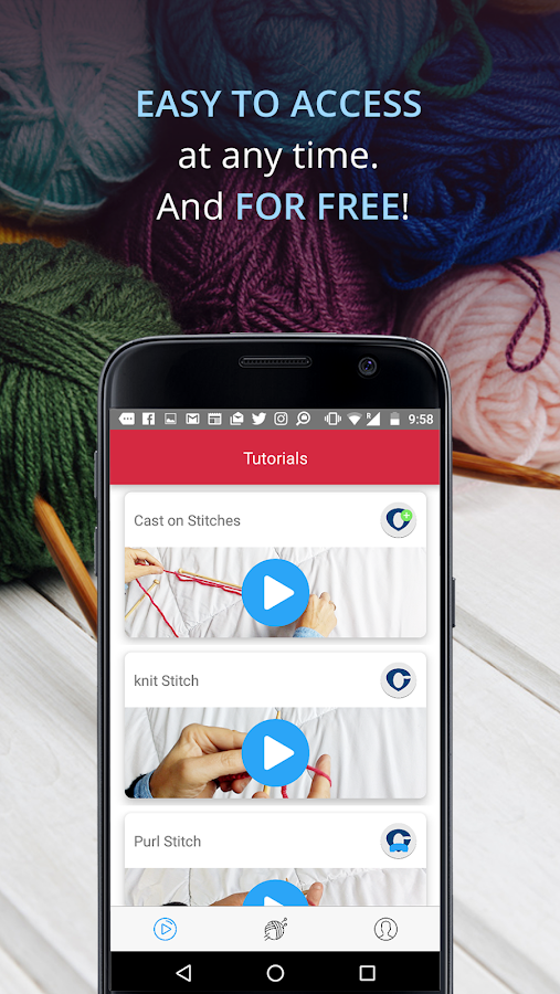 Knitting Row Counter App Android : Knitting genius free patterns row counter android