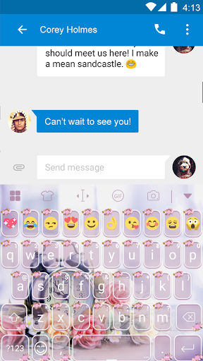 玩免費遊戲APP|下載Rose Cute Keyboard-Emoji app不用錢|硬是要APP