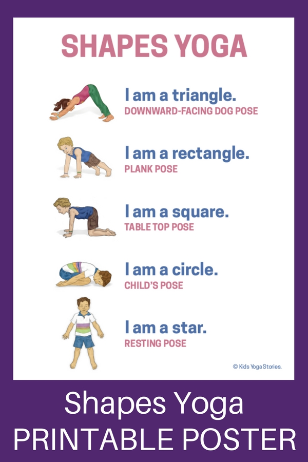 Shapes Yoga: How to Teach Shapes through Movement ...