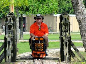 Photo: Bill Smith at Dinkey Creek Bridge     HALS Public Run Day 2015-0516 RPW