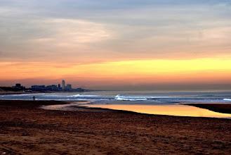 Photo: Strand in de avondzon. Foto: onbekend