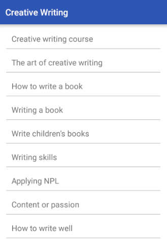 creative writing tools android He recently compiled a list of android mindmapping apps generate better ideas with these android mind mapping apps generate better ideas with these android mind mapping apps brainstorming is sometimes a spur-of-the-moment activity arguably, the best tool for generating ideas remains the humble pen and paper.
