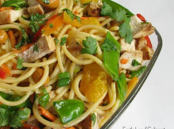 asian noodle salad with chicken and cashews recipe just a pinch