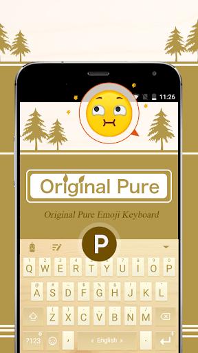 mod Original Pure Theme&Emoji Keyboard 2.7 screenshots 1