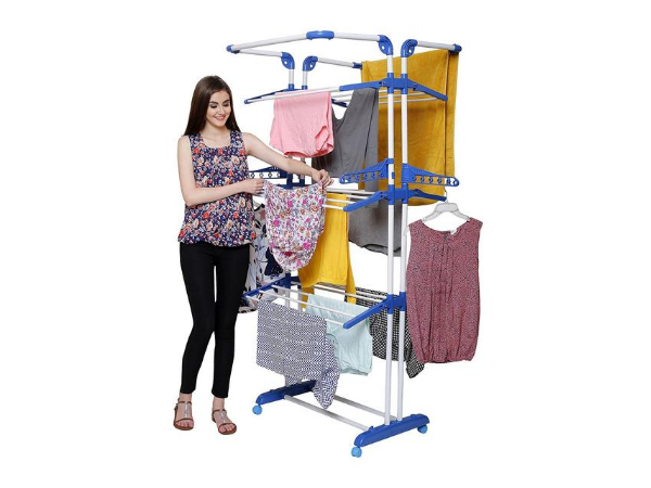 PARASNATH Prime Stainless Steel 3 Poll Clothes Drying Stand