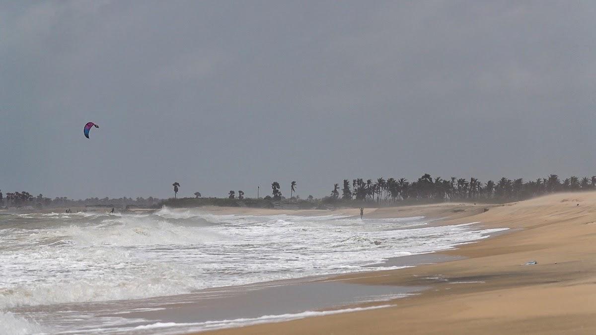 Sri. Lanka, Kalpitiya, Kitesurfing Spots. View of Ocean-side by Kalpitiya Lagoon