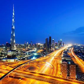 Heart of the City, Dubai UAE by Jbern Eugenio - City,  Street & Park  Street Scenes ( garyfonglandscapes, structure, holiday photo contest, architecture, places, travel, photocontest, landmark, famous landmarks, cities, dubai, buildings, nikon )