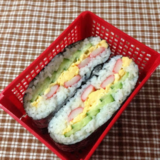 Easy 3-color Onigirazu (Rice Sandwich)