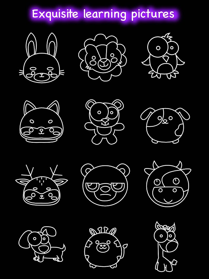 Draw Glow Animals Android 24