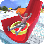 Aqua Waterslide Rush Racing Icon