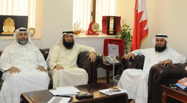 رئيس مجلس  الأوقاف السنية يستقبل سعادة النائب عبدالحليم مراد والسيد أحمد الأنصاري رئيس المجلس البلدي