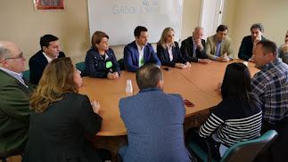 Reunión con el Comité de Empresa de Cemex en Gádor.
