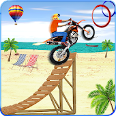 Beach Jumping Motocross 3D Traffic Racer