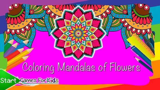 Barevné Mandaly Květin - náhled
