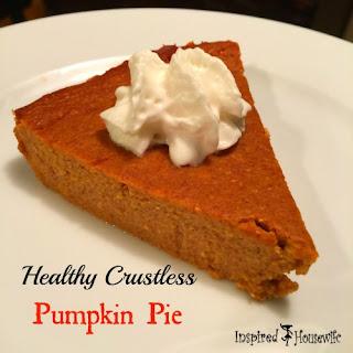 Healthy Crustless Pumpkin Pie.