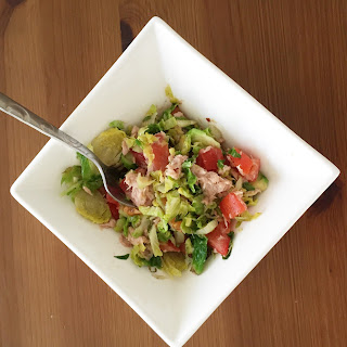 Brussel Sprout & Tuna Salad.