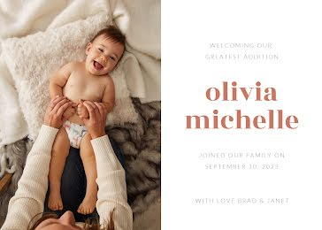 Olivia's Birth Announcement - New Baby Announcement Template