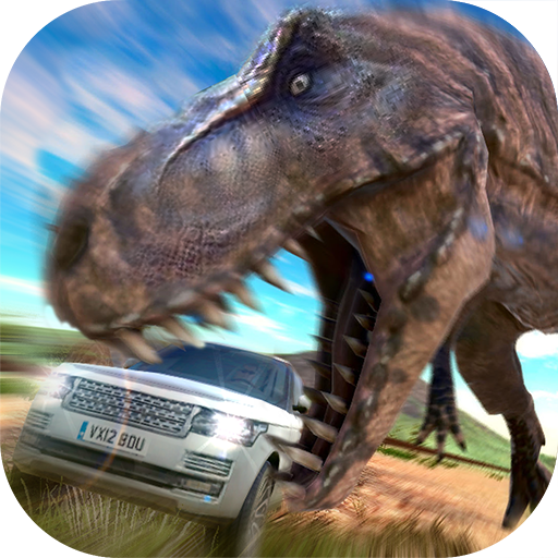 侏羅紀逃亡3D:瘋狂駕駛HD 賽車遊戲 App LOGO-APP試玩