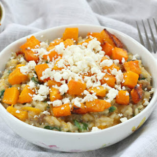 Roasted Pumpkin Sausage Risotto with Feta
