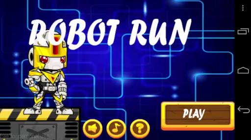 Metal Robot Soldiers Run