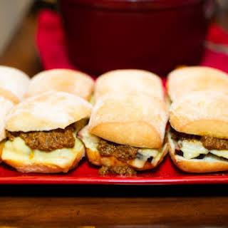 Beef Brisket Sliders with Chili.