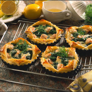 Salmon and Spinach Tarts.
