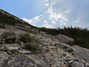 Photo: A bit of rubble about 2/3 of the way up.