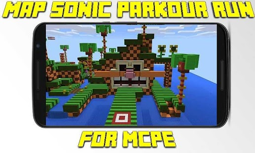 Map Sonic Parkour Run for MCPE - náhled