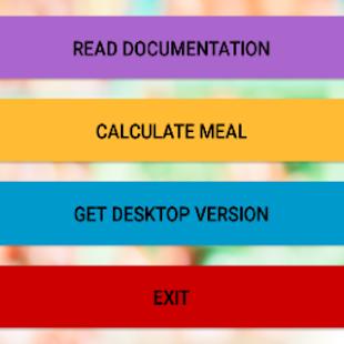 Meal Calculator - náhled