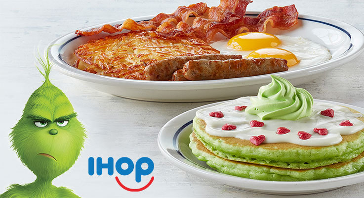 Tempt your taste buds with IHOP's delicious Grinch-inspired dishes