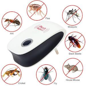 Set 4 x Dispozitiv antidaunatori Pest Reject Repeller Ultrasonic