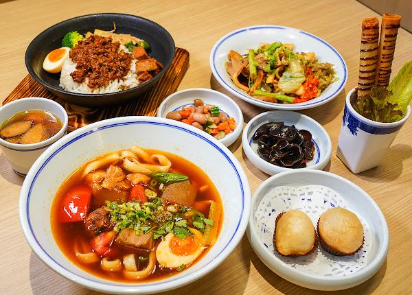 漢來蔬食新品牌~漢神百貨美食街超好吃平價蔬食料理-五梅先生