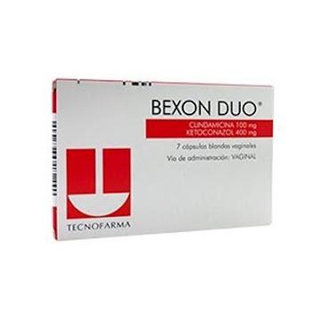 Clindamicina + ketoconazol Bexon Duo 100/400Mg Cáp.Caj.x7Cap. Tecnofarma