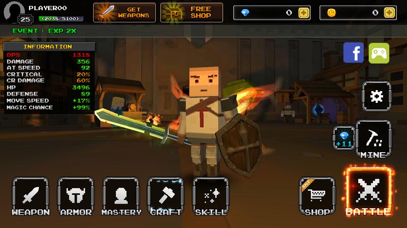 Pixel F Blade - 3D Fantasy rpg Screenshot
