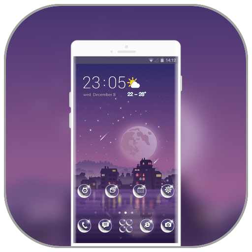 Theme for holiday moon night wallpaper icon
