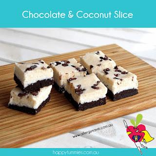 Chocolate & Coconut Slice.