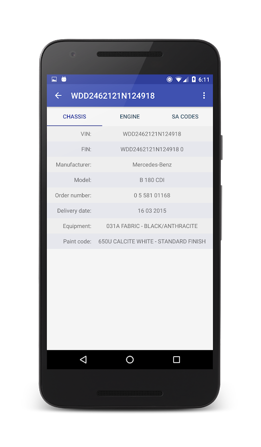 Vin decoder for mercedes benz android apps on google play for Mercedes benz app for android