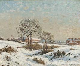"""Photo: Camille Pissarro, """"Paesaggio innevato a South Norwood"""""""