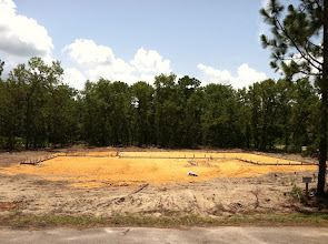 Photo: Land clearing and fill is complete. Preparing for the foundation pour.Photo by Lake Weir Living.