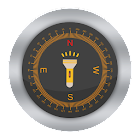 Flashlight Compass with Sounds icon