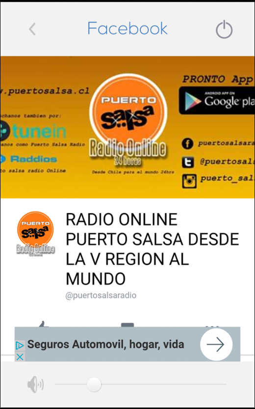 PUERTOSALSA RADIO CHILE: captura de pantalla