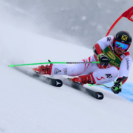 Marcel Hirscher on the way to victory by Igor Martinšek - Sports & Fitness Snow Sports ( pokal vitranc, slovenia, fis ski world cup 2017/18, marcel hirscher, kranjska gora )