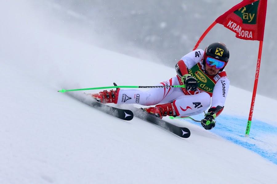 Marcel Hirscher on the way to victory by Igor Martinšek - Sports & Fitness Snow Sports ( pokal vitranc, slovenia, fis ski world cup 2017/18, marcel hirscher, kranjska gora )