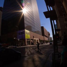 Walk Downtown by John Chu - City,  Street & Park  Street Scenes