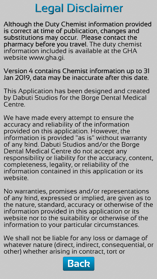 Gibraltar Duty Chemist- screenshot